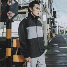 运动外套男2019春季新款休闲潮流运动拼接外套上衣