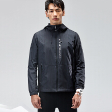 外套男2019春季新款满印梭织连帽运动上衣风衣外套短款