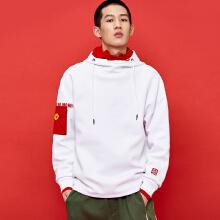 男卫衣2019春季新款国潮刺绣新年大红色红包卫衣连帽