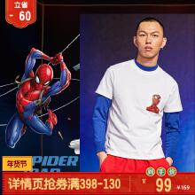 漫威联名蜘蛛侠短袖针织衫