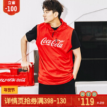 可口可乐联名短袖连帽针织衫