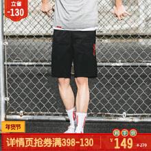 可口可乐男装短T2019春夏季梭织短裤