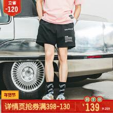 可口可乐男装短T2019春夏季针织短裤