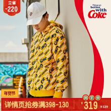 可口可乐男装套头卫衣2019秋冬季针织运动上衣