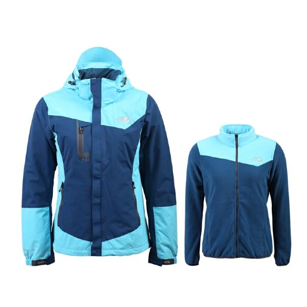 安踏 户外系列 女子防风防泼水保暖户外两件套-96546670