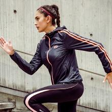 运动外套女2019春夏季新款简约运动夹克开衫风衣连帽外套