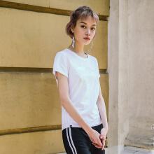 秋季新款女子LOGO运动轻薄短袖T恤