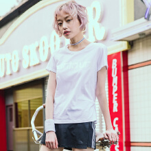 女子秋季新款舒适跑步运动服休闲短袖T恤