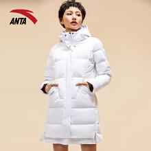 运动羽绒服女冬新连帽中长款大白羽绒服外套