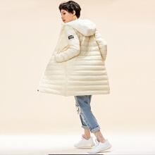 运动羽绒服女冬季新款潮流韩版中长款连帽羽绒服
