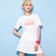 安踏2019新款夏季女子休闲运动短T短袖