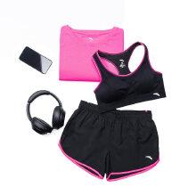 安踏女子2019夏季新款健身房运动套跑步套装运动三件套