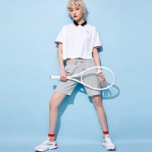 安踏女子2019新款夏季短款休闲运动短袖POLO衫