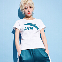 安踏女子2019新款夏季透气棉短T短袖