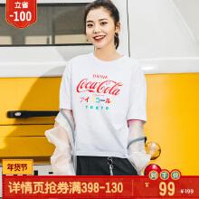 可口可乐女装短袖针织衫春夏季
