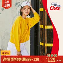 可口可乐联名款女装套头卫衣2019秋冬季