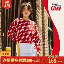 可口可乐女装套头卫衣2019秋冬季