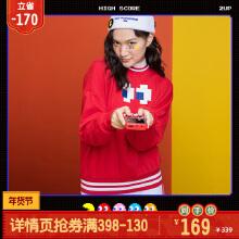 吃豆人联名系列女装女套头卫衣2019新款