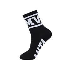 年新款男子平板长袜混色时尚休闲生活袜运�动袜高筒棉袜子