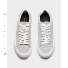antaplus安踏女硫化鞋反绒皮帆布鞋2018新款