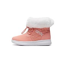 儿童女小童棉鞋秋冬儿童保暖运动鞋雪地靴加绒