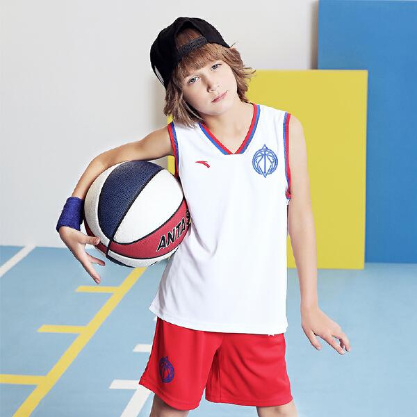 安踏儿童 男童篮球比赛套-A35821207