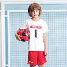 儿童套装男童新款童装舒适儿童足球比赛套装