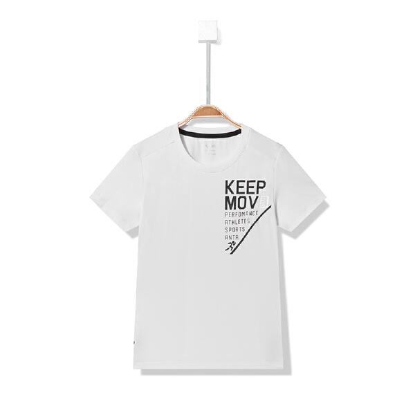 安踏儿童 男童短袖针织衫-A35827141