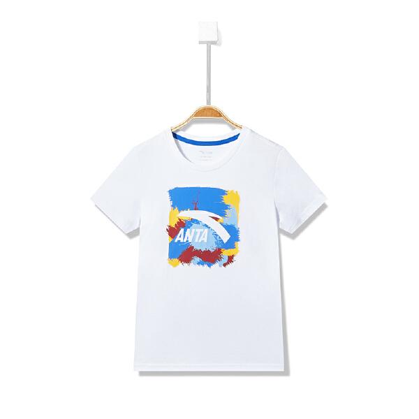 安踏儿童 男童短袖针织衫-A35828148