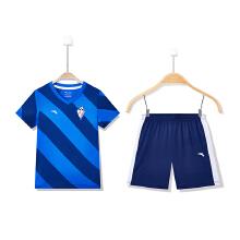 童装新款小童条纹足球比赛运动套装足球服男童
