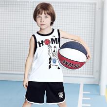 童装篮球服新款小童透气汤普森篮球比赛套运动背心