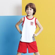 儿童套装男童中小童秋冬新款吸湿篮球套篮球背心短裤