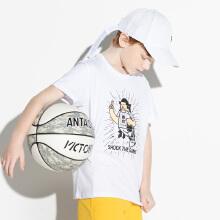 安踏2019夏季新款KT短T中大童篮球男童短袖T恤打底衫