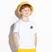 安踏儿童2019夏新款中大童运动夏装全棉透气短袖T恤衫