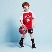 安踏儿童2019新款夏季中大童运动短裤短袖套装