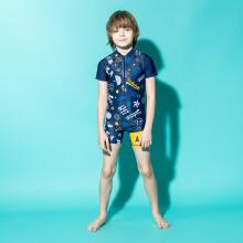 安踏儿童2019新款夏季男中大童游泳套装
