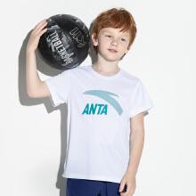 安踏儿童019新款夏装中大童速干短袖洋气潮T恤(两件装)