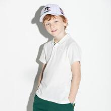 安踏儿童2019夏季新款纯色∴打底衫男童棉质短袖T恤polo衫
