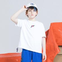 安踏儿童2019新款设计师款中大童短T短袖针织衫