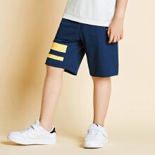 安踏儿童2019夏中大童薄款纯棉针织五分裤