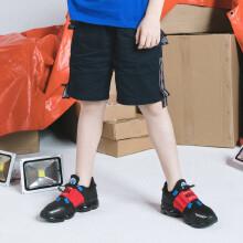 安踏儿童2019新款夏季中大童潮流系列梭织五分裤