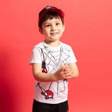 安踏儿童2019新款夏季漫威联名短T短袖针织衫