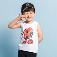 安踏儿童2019新款夏季小童无袖运动套装