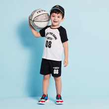 安踏儿童2019新款夏季小童薄款透气运动套装