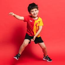 安踏儿童2019新款夏季小童漫威联名短袖套装
