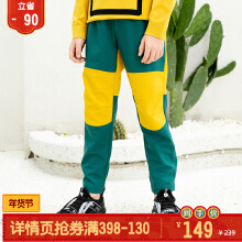 安踏儿童2019秋季中大童梭织长裤