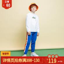 男服男中大童服针织长裤2019秋冬款
