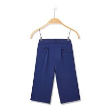 女童针织七分裤