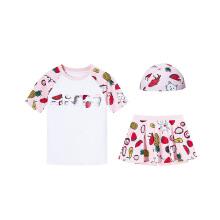 安踏儿童2019新款夏季女中大童游泳套装