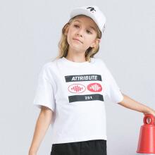 安踏儿童2019新款夏季潮流系列女中大童短袖短T